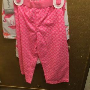 Carter's Pajamas - NWT sz 24 mths pink flamingo pajamas 3 pc carters